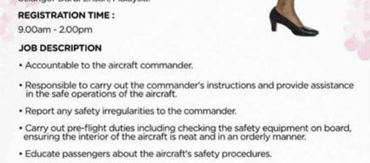 AirAsia X Cabin Crew Recruitment – Feb 2018