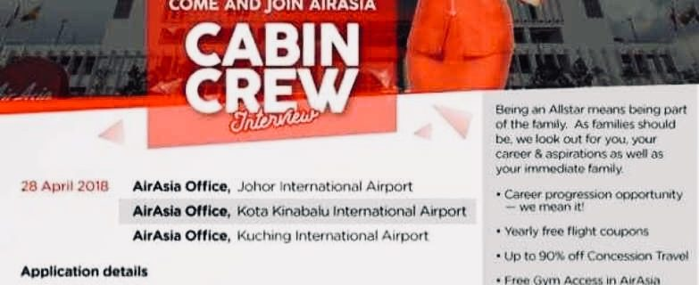 AirAsia Flight Attendants Recruitment-Apr 2018