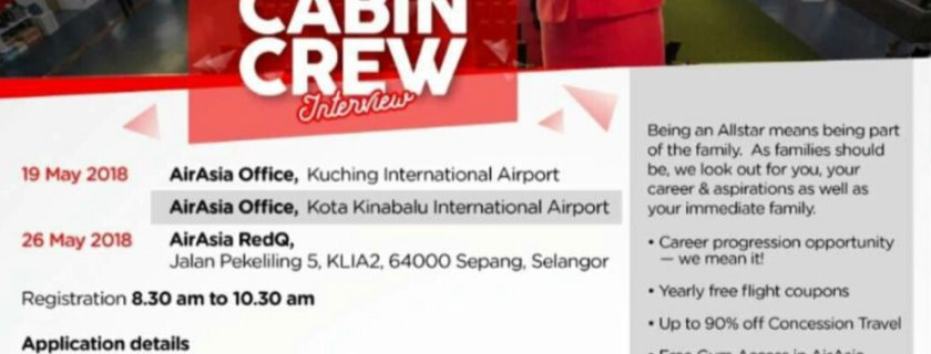 AirAsia Flight Attendant Recruitment -May 2018