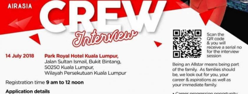 AirAsia Flight Attendant Recruitment – Jul 2018