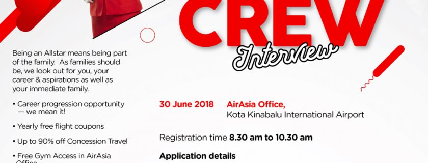 AirAsia Flight Attendant Recruitment – Jun 2018
