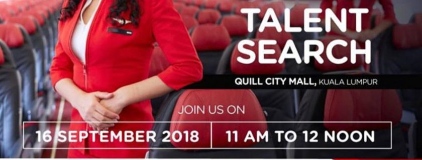 AirAsia Cabin Crew Talent Search – Sep 2018 KUL