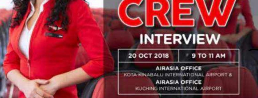 AirAsia Flight Attendant Recruitment – Oct 2018 (KCH & BKI)