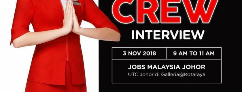 AirAsia Flight Attendant Recruitment – Nov 2018 (JHB)
