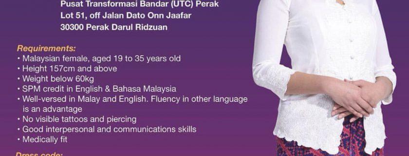 Malindo Flight Stewardess Recruitment-Jan 2019 (Perak)