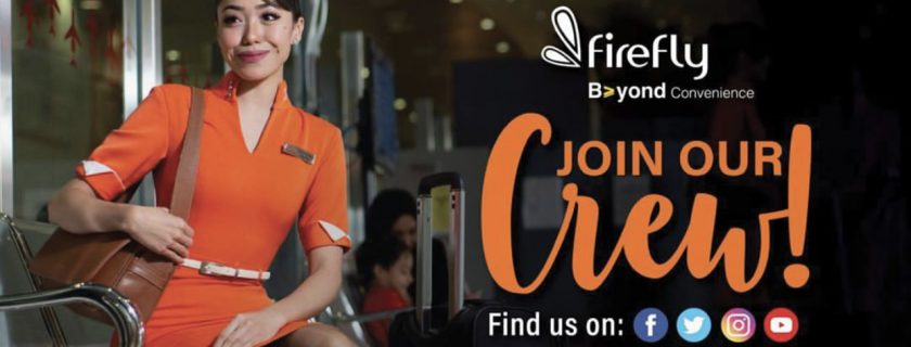 Firefly Flight Stewardess Recruitment-Mar2019 (KUL)