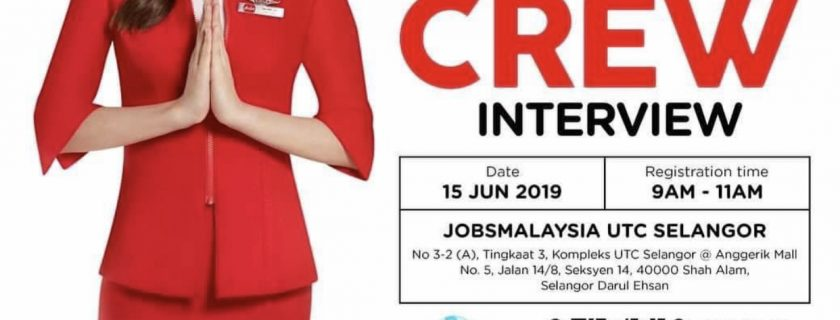 Airasia Flight Attendant Recruitment-Jun 2019