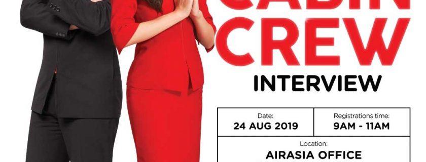 Airasia Flight Attendant Recruitment-Aug 2019 (KCH)