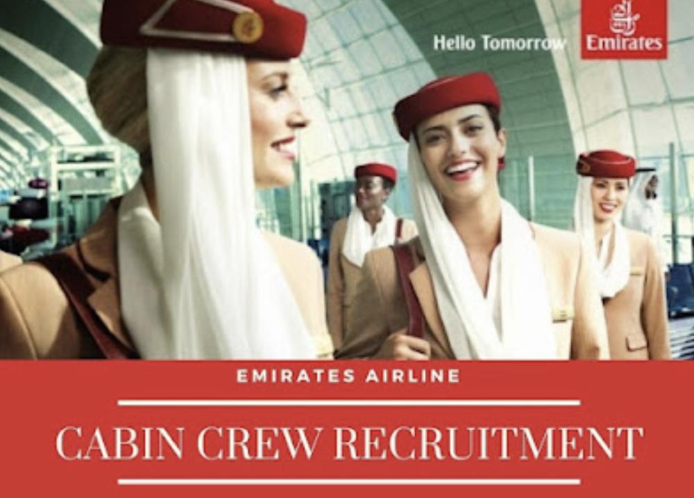 Emirates Airlines Cabin Crew Recruitment-Aug 2021