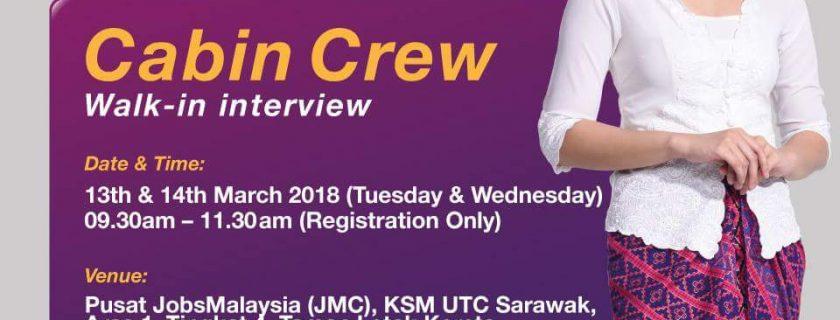 Malindo Airways Flight Stewardess Recruitment – Mar2018