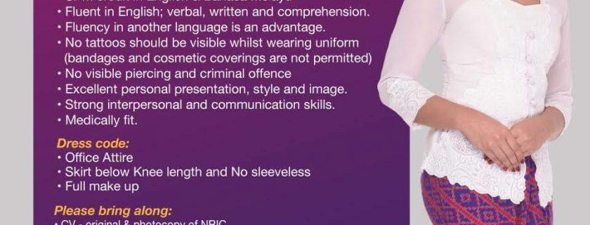 Malindo Stewardess Recruitment – Jul 2018