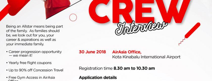 AirAsia Flight Attendant Recruitment – Jun 2018