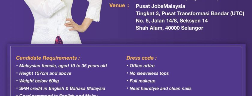 Malindo Air Flight Stewardess Recruitment-May 2019 (KUL)