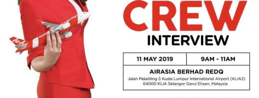 Airasia Flight Attendant Recruitment-May 2019