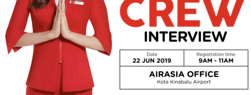 Airasia Flight Attendant Recruitment – Jun 2019 (BKI)