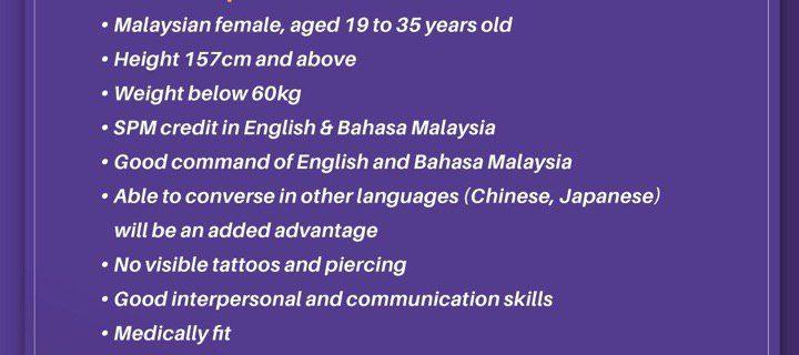 Malindo Air Flight Stewardess Recruitment-Jul 2019 (LGK)