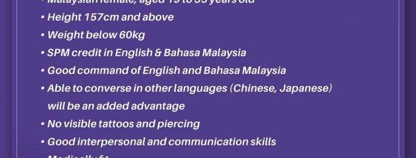 Malindo Air Flight Stewardess Recruitment-Aug 2019(KUL)