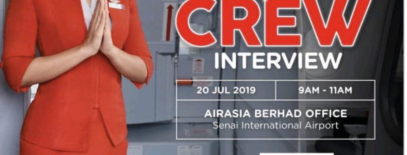 Airasia Flight Attendant Recruitment -Jul 2019