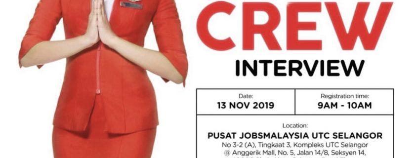AirAsia Flight Attendant Recruitment-Nov 2019 (UTC Selangor)