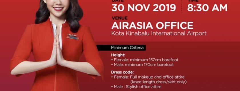 AirAsia Flight Attendant Recruitment-Nov 2019 (BKI)